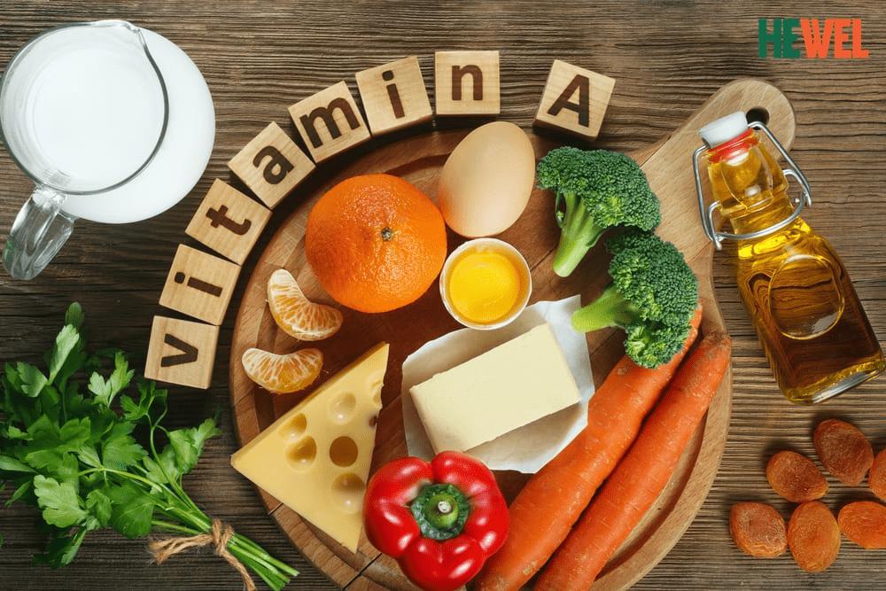 Vitamin A có nhiều trong các loại thực phẩm thiên nhiên.