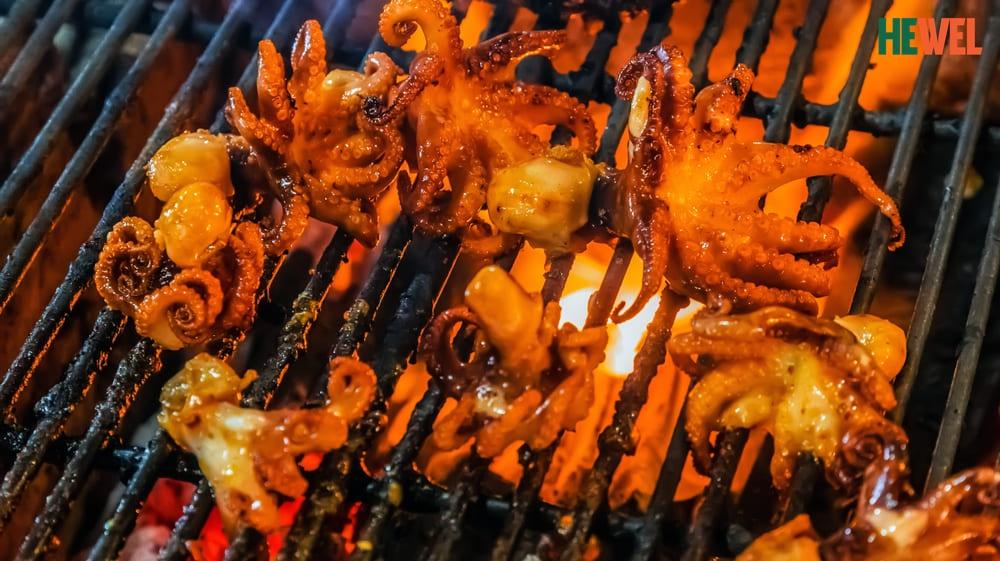 bạch tuộc nướng Người bị viêm gan B nên và không nên ăn thực phẩm gì?